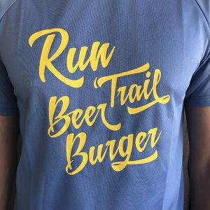 T-shirt Homme Run Trail Beer Burger