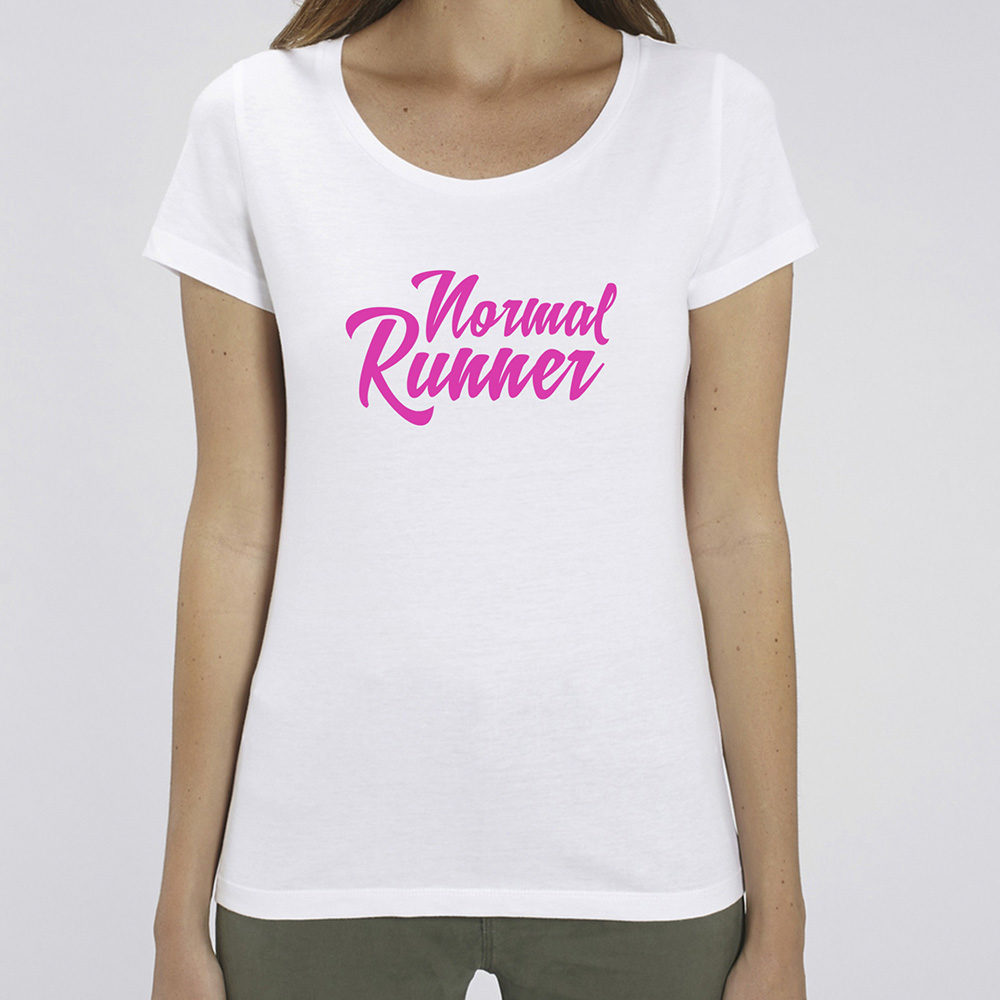 T-shirt Normal Runner Blanc